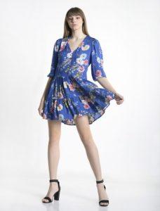 μπλε μίνι φόρεμα βολάν ρούχα paranoia καλοκαίρι