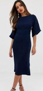 μπλε σκούρο φόρεμα μίντι