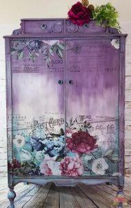 βαμμενη ντουλαπα μοβ