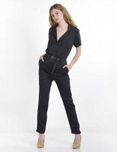 ολόσωμη φόρμα casual μαύρη