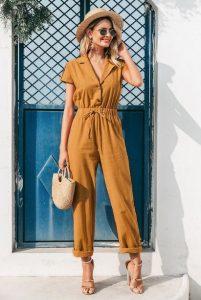 ολόσωμη φόρμα κίτρινη πέδιλο