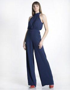 ολόσωμη φόρμα μπλε καμπάνα