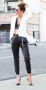 μαυρο παντελονι για καλοκαιρινο ντυσιμο