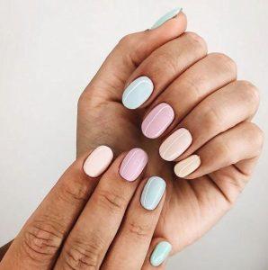 παστέλ νύχια διάφορα χρώματα
