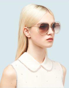 πολύγωνα χρυσά γυαλιά ηλίου ediva.gr