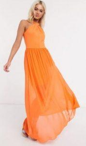 πορτοκαλί μάξι φόρεμα