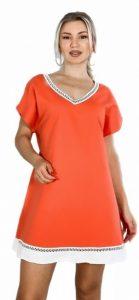 πορτοκαλί κοντό καλοκαιρινό φόρεμα