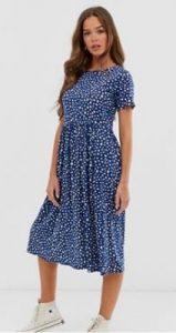 πουά καλοκαιρινό φόρεμα midi