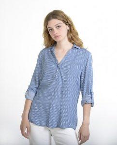 πουκάμισο πουά γαλάζιο