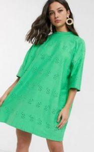 πράσινο καλοκαιρινό μίνι φόρεμα