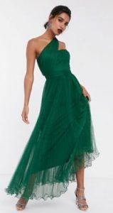 πράσινο maxi φόρεμα γάμου
