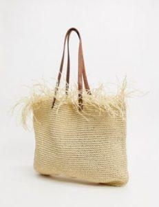 ψάθινη τσάντα θάλασσας