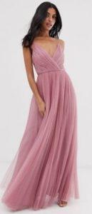 ροζ αέρινο καλοκαιρινό φόρεμα