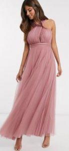 ροζ φόρεμα γάμου
