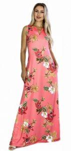 ροζ φόρεμα για καλοκαιρινές διακοπές
