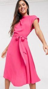ροζ midi φορεματάκι