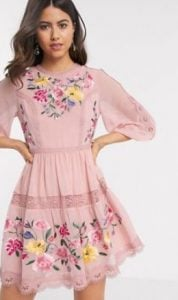 ροζ μίνι φόρεμα
