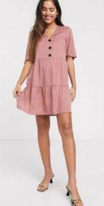 ροζ μίνι καλοκαιρινό φορεματάκι
