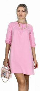 ροζ μπλουζοφόρεμα καλοκαίρι 2020