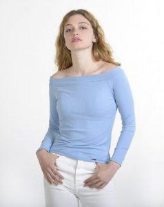 σιέλ μπλούζα έξω ώμοι ρούχα paranoia καλοκαίρι