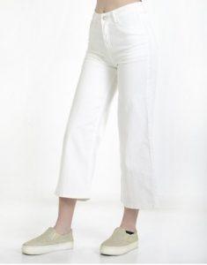 τζιν κοντό άσπρο παντελόνι