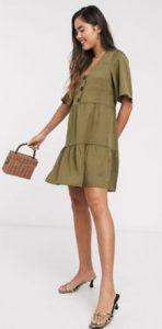 χακί φόρεμα για το καλοκαίρι