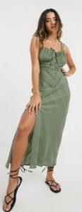 χακί φόρεμα maxi