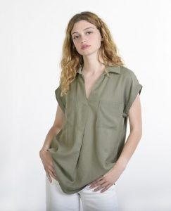 χακί πουκάμισο τσέπες
