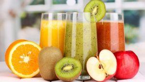 χυμοί φρούτων ακτινίδιο μήλο πορτοκάλι