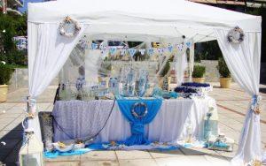 λευκη γαλαζια βαφτιση