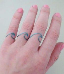 δαχτυλίδι κύμα με σύρμα
