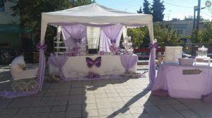 λιλα μοβ πεταλουδες βαφτιση