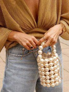 μικρή τσάντα πέρλες στυλ τσάντας καλοκαίρι
