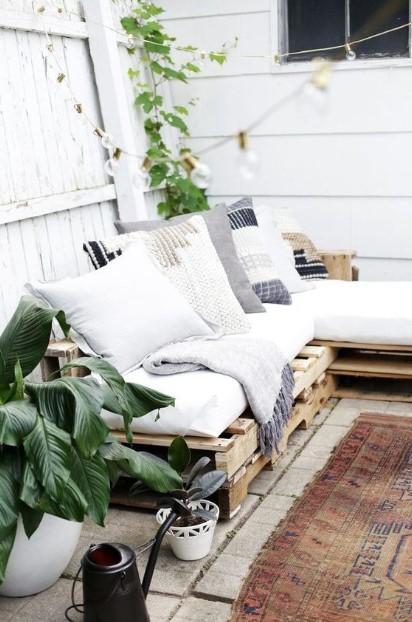 μπαλκόνι καναπές παλέτες