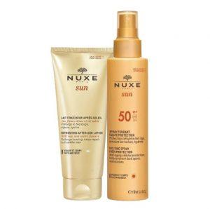 nuxe αντηλιακό και κρέμα σώματος