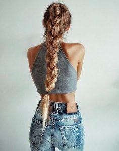 πλεξούδα πολύ μακριά μαλλιά πιάσεις μαλλιά ζέστη
