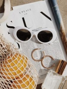 άσπρα στρογγυλά γυαλιά ηλίου