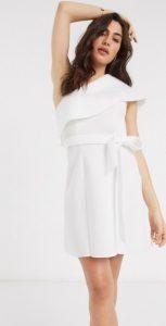 άσπρο φόρεμα σε άλφα γραμμή για γάμο