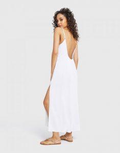 άσπρο μακρύ φόρεμα