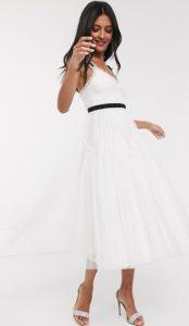 άσπρο midi φόρεμα για γάμο