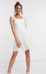άσπρο μίνι φόρεμα για γάμο