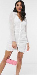 άσπρο μίνι φόρεμα γάμου