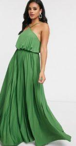 εντυπωσιακό πράσινο μακρύ φόρεμα