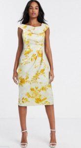 floral midi φόρεμα