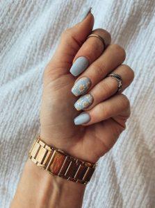 γαλάζια νύχια μαργαρίτες καλοκαιρινά σχέδια νύχια