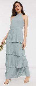 γαλάζιο μακρύ φόρεμα