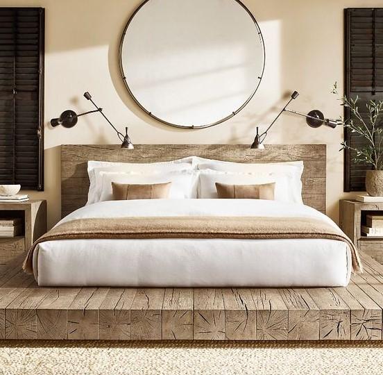 κρεβάτι καθρέπτης απλίκες