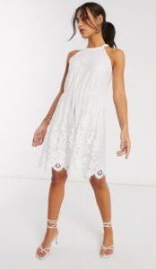 λευκό φόρεμα γάμου mini