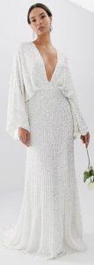 μακρύ άσπρο φόρεμα γάμου
