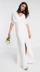 μακρύ νυφικό φόρεμα άσπρο